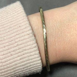 TURKISH Sterling/Gold Over Bangle Bracelet